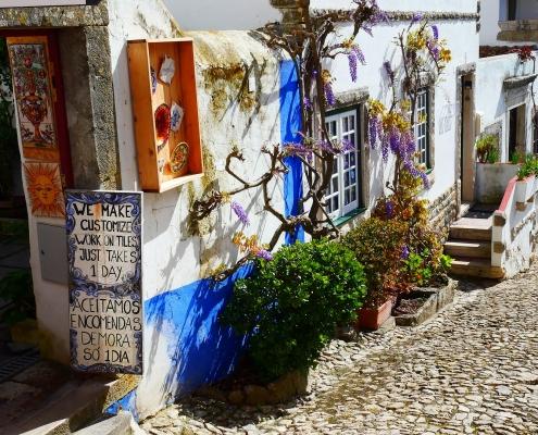 Ruelle Obidos Portugal Europe Voyage