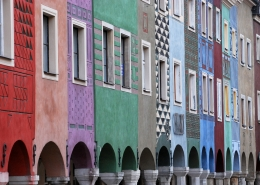 Façade bâtiments Poznan Pologne Europe Voyage