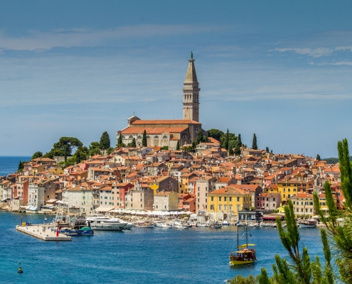 Vue panoramique de Rovinj Croatie Europe Voyage