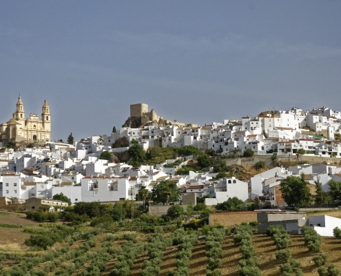 Village blanc, Olvera Andalousie Espagne Voyage