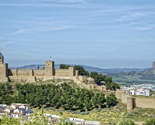 Vue panoramique d'Antequera Espagne Europe Voyage