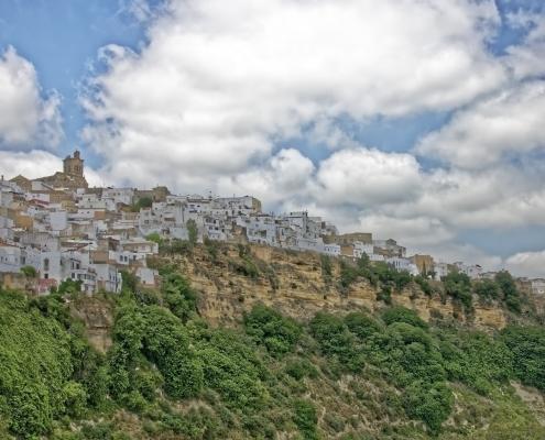 Village blanc Arcos de la Frontera Andalousie Voyage Espagne