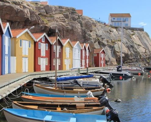 Bateaux Port Suède Scandinavie Voyage