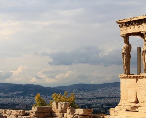 Vue Acropole Athènes Grèce Europe Voyage