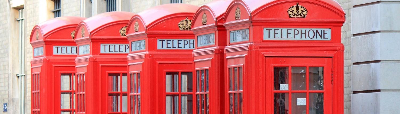 Cabine téléphoniques rouge Londres Royaume-Uni Voyage