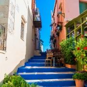 Escalier bleu Réthymnon Grèce Europe Voyage