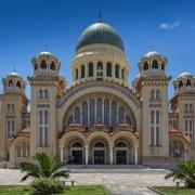 Vue de Saint Andrew Church, the largest church in Greece, Patras, Peloponnese, Grèce Europe Voyage