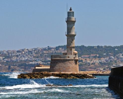 Phare Chania Grèce Europe Voyage