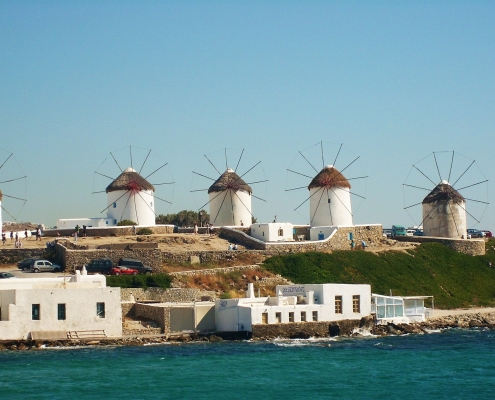Moulin à vent Mykonos Grèce Europe Voyage