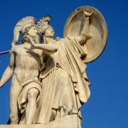 Statue de la déesse Athèna Athènes Grèce Europe Voyage