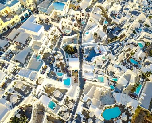 Vue du ciel Santorin Grèce Europe Voyage